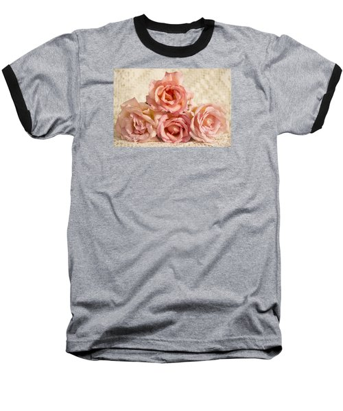 Lace And Roses Baseball T-Shirt