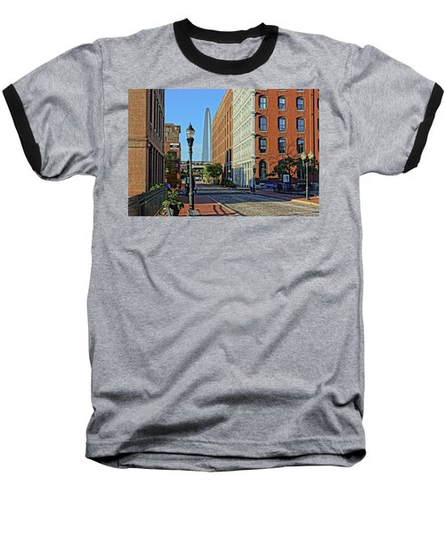 Laclede's Landing Just North Of The Arch Baseball T-Shirt by Greg Kluempers