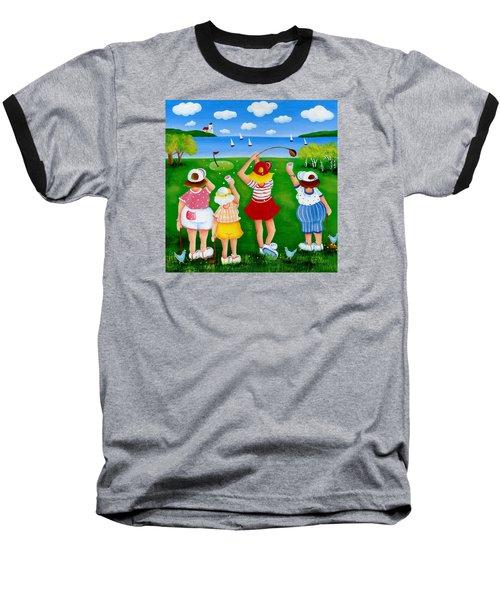 Ladies League Door County Baseball T-Shirt by Pat Olson