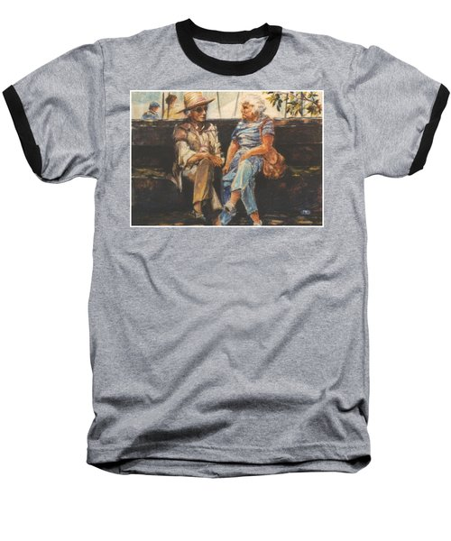 Baseball T-Shirt featuring the painting Ladies Of Washington Square by Walter Casaravilla