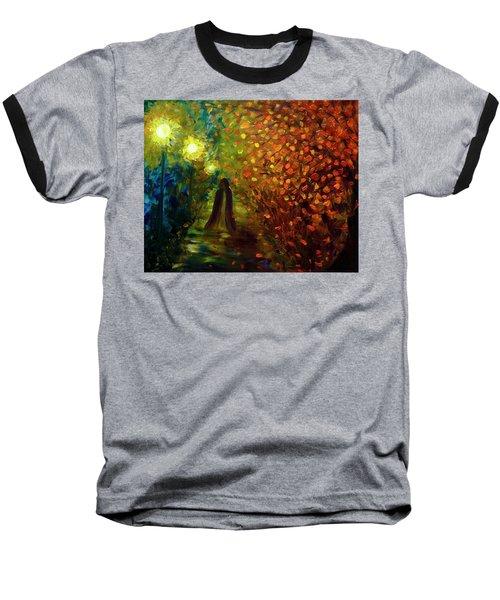 Lady Autumn Baseball T-Shirt