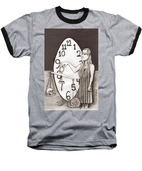 Lady Justice And The Handless Clock Baseball T-Shirt