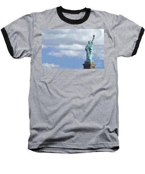 Lady Liberty   1 Baseball T-Shirt by Allen Beatty