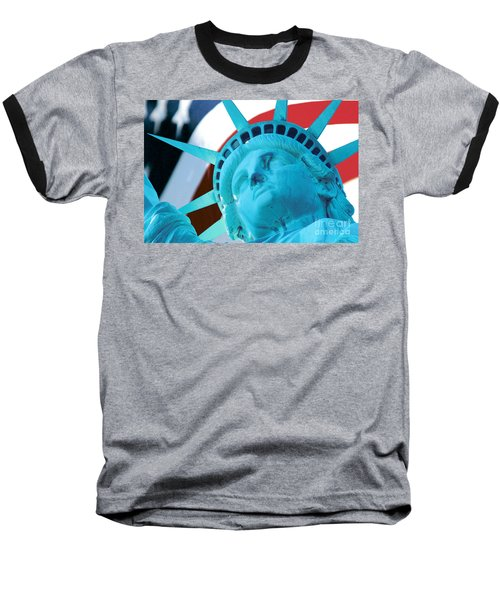 Baseball T-Shirt featuring the photograph Lady Liberty  by Jerry Fornarotto
