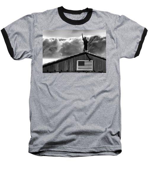Lady Liberty Baseball T-Shirt by Ron White