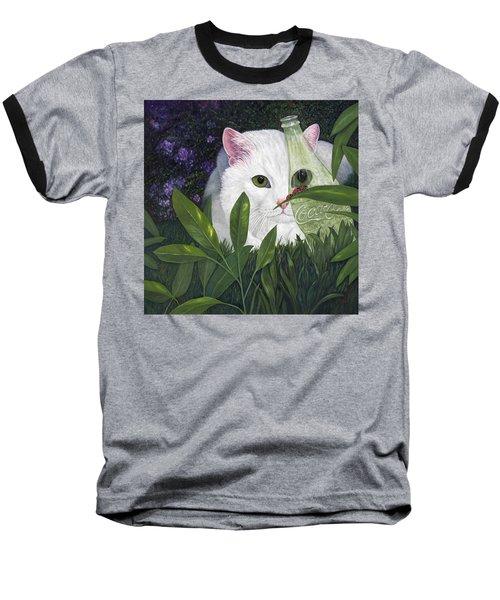 Ladybugs And Cat Baseball T-Shirt