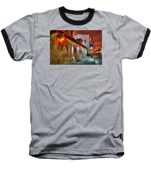 Lafitte's Blacksmith Shop Baseball T-Shirt by Tim Stanley