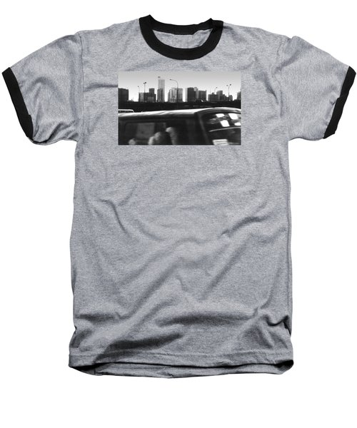 Lagos Skyline At Dusk Baseball T-Shirt