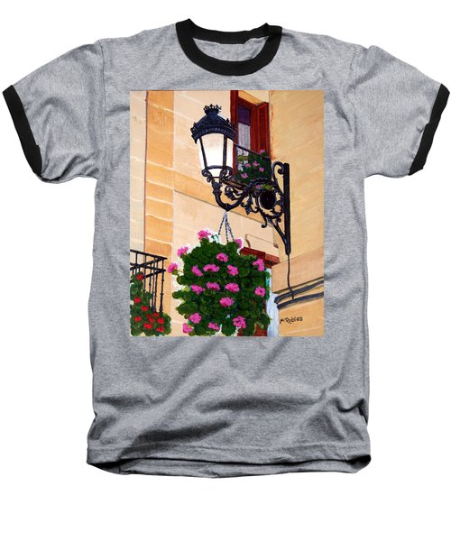 Laguardia Street Lamp  Baseball T-Shirt by Mike Robles