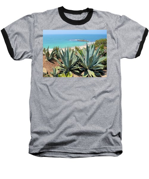Laguna Coast With Cactus Baseball T-Shirt