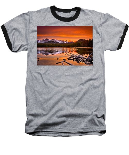 Lake Bierstadt In The Morn Baseball T-Shirt by Steven Reed
