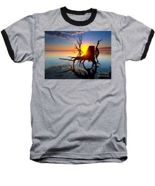 Lake Bonney Sunrise Baseball T-Shirt by Bill  Robinson