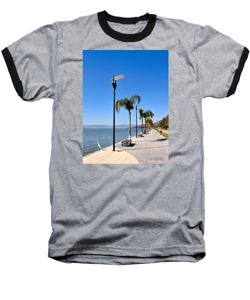 Baseball T-Shirt featuring the photograph Lake Chapala - Mexico by David Perry Lawrence