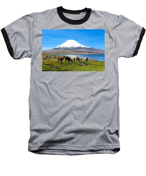 Lake Chungara Chilean Andes Baseball T-Shirt