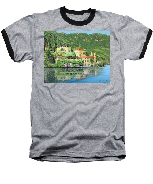 Lake Como Morning Baseball T-Shirt