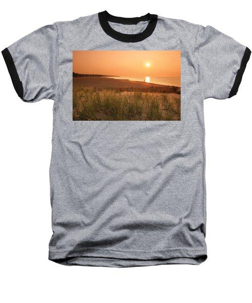 Lake Erie Sunset Baseball T-Shirt by Garry McMichael