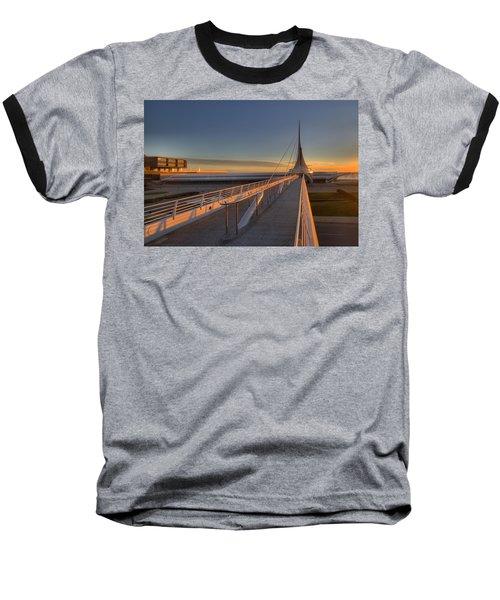 Lake Front View Baseball T-Shirt by Daniel Sheldon