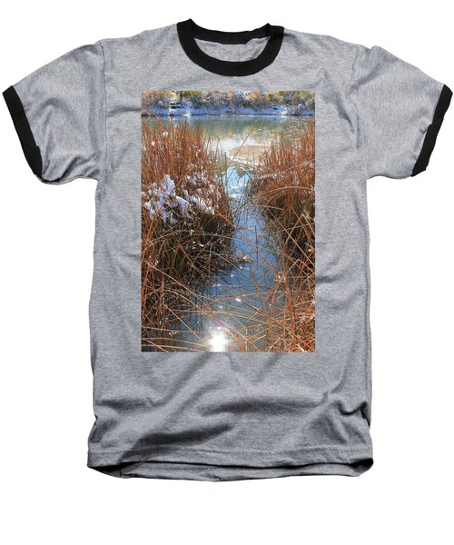 Baseball T-Shirt featuring the photograph Lake Glitter by Diane Alexander