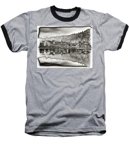 Lake House Reflection Baseball T-Shirt