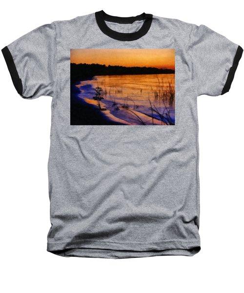 Lake Huron Sunset  Baseball T-Shirt