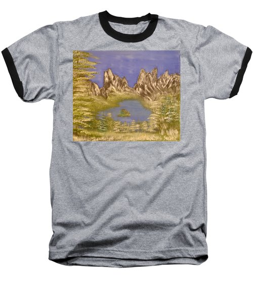 Lake In Glacier Baseball T-Shirt