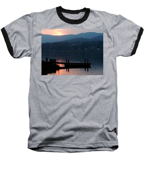 Lake J Sunset Baseball T-Shirt by Craig T Burgwardt