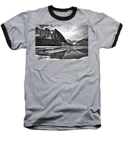 Lake Louise - Black And White #3 Baseball T-Shirt