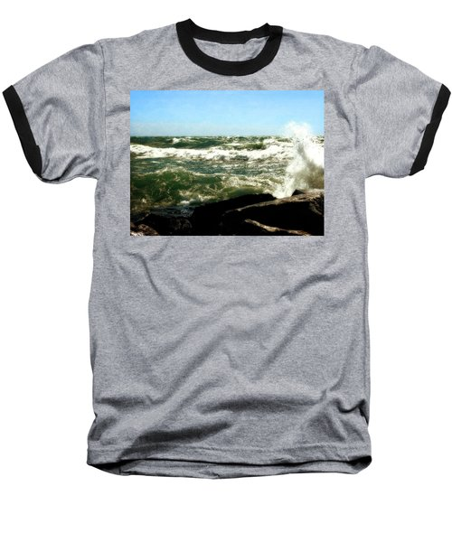 Lake Michigan In An Angry Mood Baseball T-Shirt