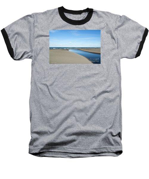 Lake Michigan Waterway  Baseball T-Shirt by Verana Stark
