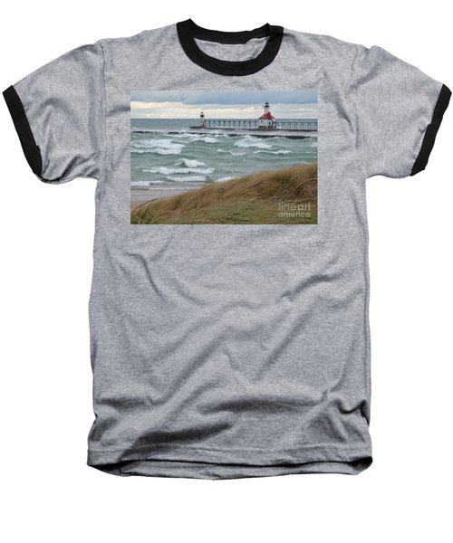 Lake Michigan Winds Baseball T-Shirt by Ann Horn