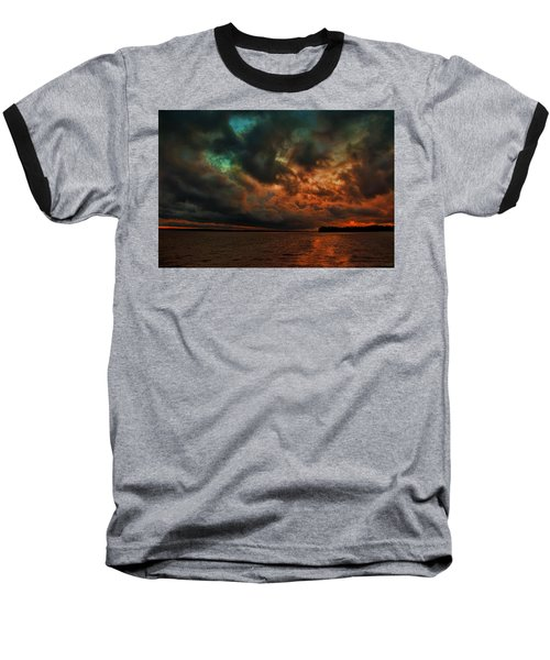 Lake Murray Fire Sky Baseball T-Shirt