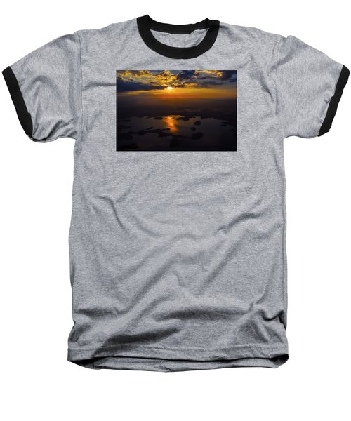 Lake Norman Sunrise Baseball T-Shirt by Greg Reed