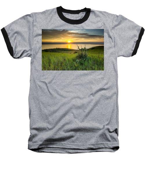 Lake Oahe Sunset Baseball T-Shirt