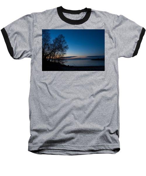 Baseball T-Shirt featuring the photograph Lake Ontario Blue Hour by Georgia Mizuleva