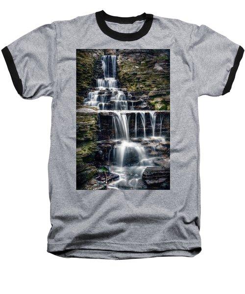 Lake Park Waterfall Baseball T-Shirt