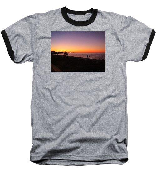 Lake Pontchartrain Sunset Baseball T-Shirt