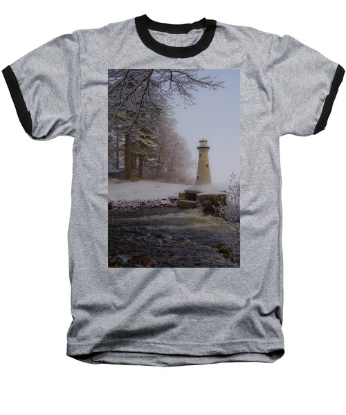 Lake Potanipo Lighthouse Baseball T-Shirt