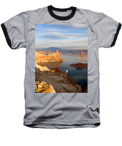 Baseball T-Shirt featuring the photograph Lake Powell From Alstrum Pt 12 by Jeff Brunton
