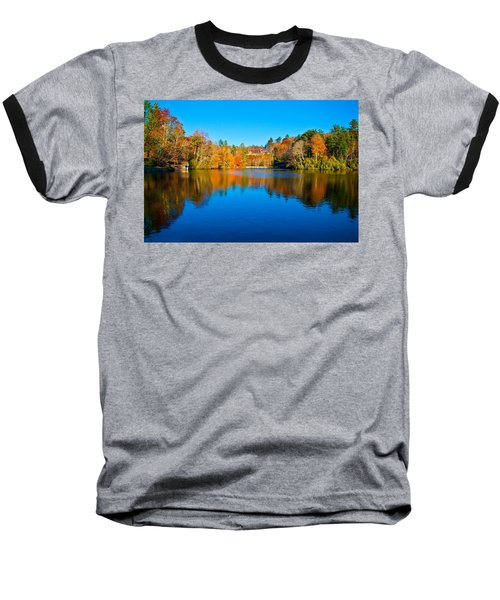 Baseball T-Shirt featuring the photograph Lake Reflections by Alex Grichenko