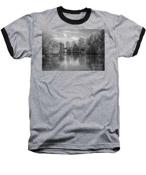 Lake Reflections Mono Baseball T-Shirt