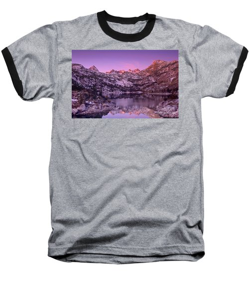 Lake Sabrina Sunrise Eastern Sierras California Baseball T-Shirt by Dave Welling
