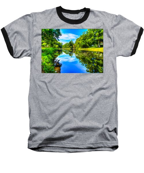Lake Scene Baseball T-Shirt