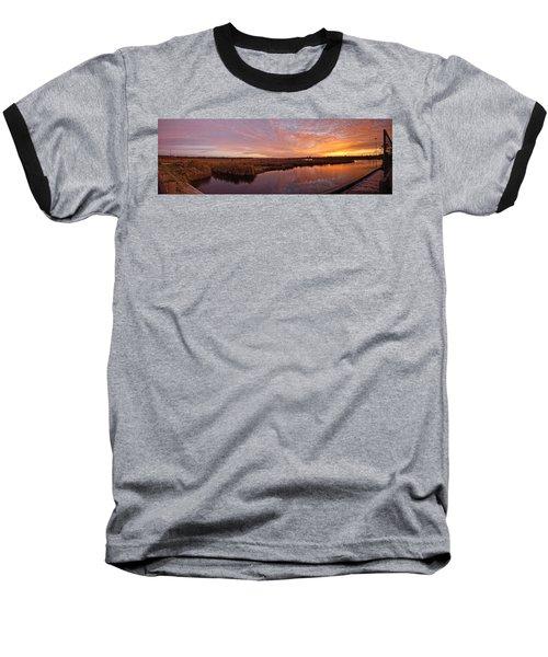 Lake Shelby Bridge Baseball T-Shirt by Michael Thomas