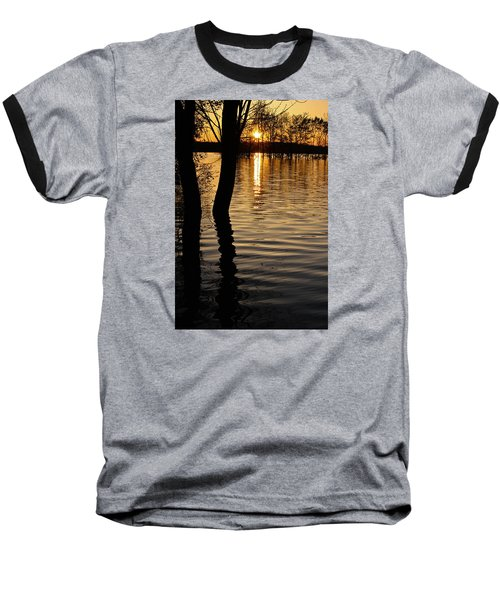 Lake Silhouettes Baseball T-Shirt by Julie Andel