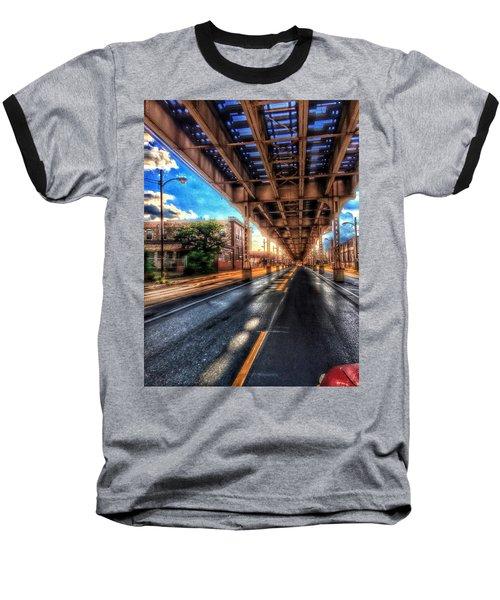 Lake Street El Tracks Baseball T-Shirt