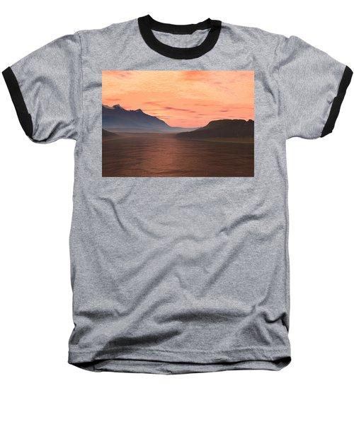 Baseball T-Shirt featuring the digital art Lake Sunset 1 by Judi Suni Hall