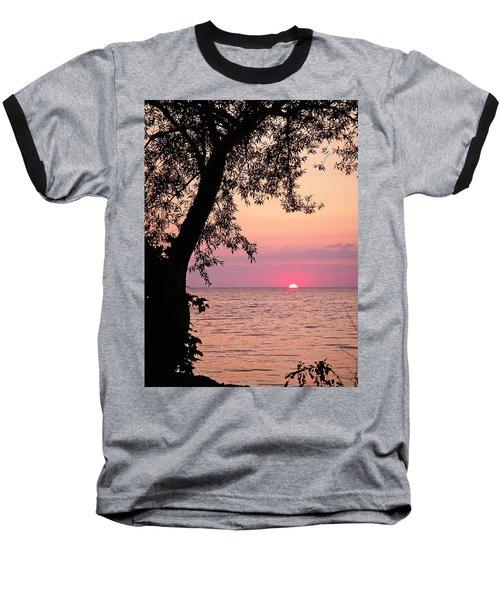 Lake Sunset Baseball T-Shirt by Aimee L Maher Photography and Art Visit ALMGallerydotcom