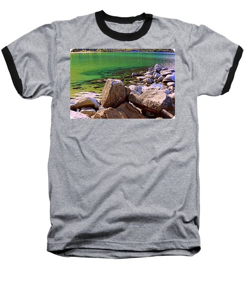 Lake Tahoe Green Baseball T-Shirt