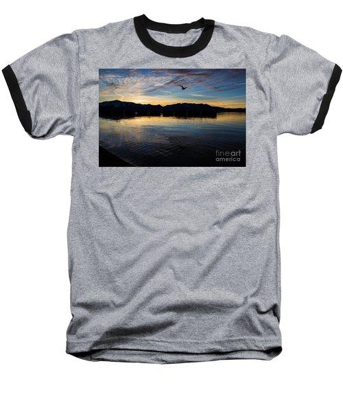 Lake Tahoe Sunset Baseball T-Shirt by Suzanne Luft