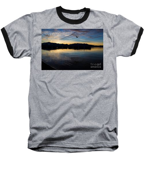Lake Tahoe Sunset Baseball T-Shirt